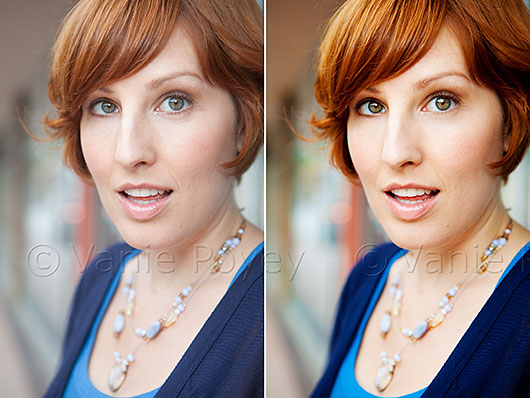 RAW Headshot vs. Custom Processed